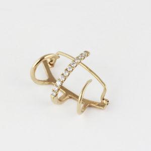 Arako gold clip earring