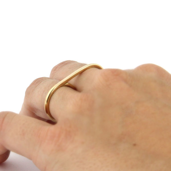 18k gold double ring Sidonie