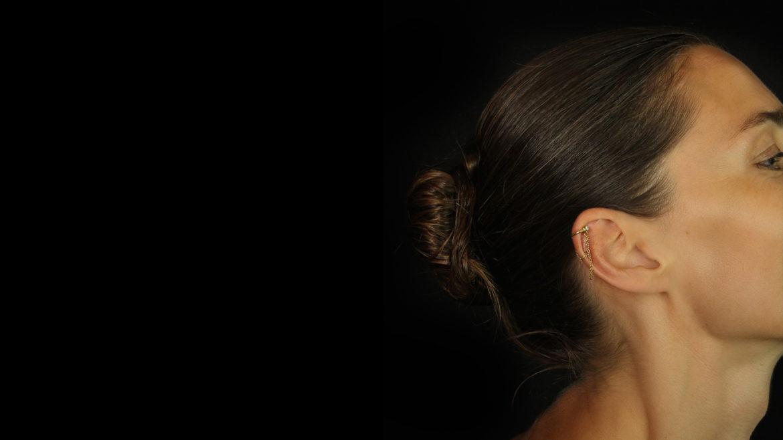Gold Clip earring